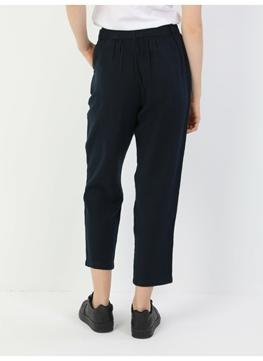 Colin's Regular Fit Orta Bel Düz Paça Kadın Pantolon Lacivert